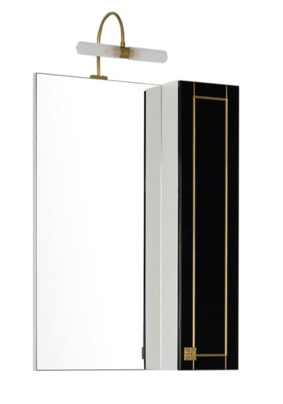 Фото - Зеркало Aquanet Честер 75 черный/патина золото (186091)