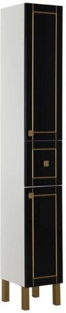 Фото - Пенал Aquanet Честер 30 черный/патина золото (186094)