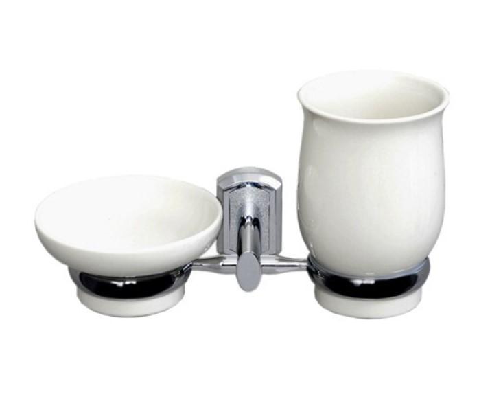 Держатель WasserKRAFT K-24126 стакана и мыльницы, фото