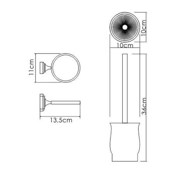 Щетка WasserKRAFT K-24127 для унитаза подвесная, фото