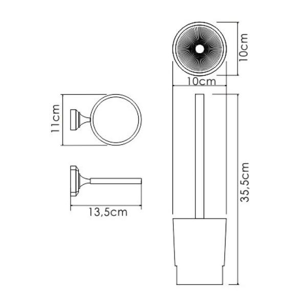 Щетка WasserKRAFT K-28127 для унитаза подвесная, фото