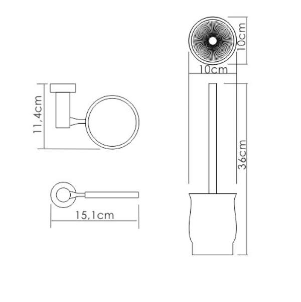 Щетка для унитаза WasserKRAFT K-24227 подвесная, фото