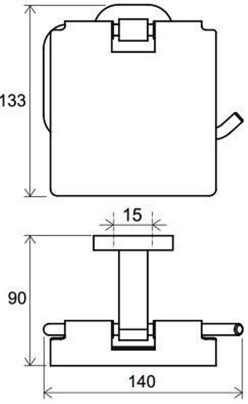 Держатель для туалетной бумаги Ravak CR 400.00 (X07P191), фото