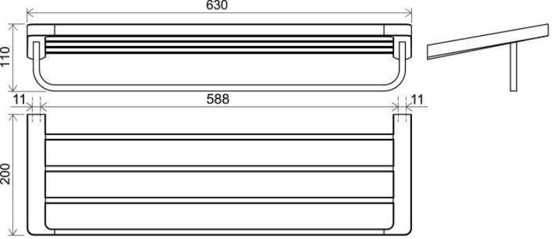 Полотенцедержатель Ravak TD 330.00 66 см (X07P327), фото