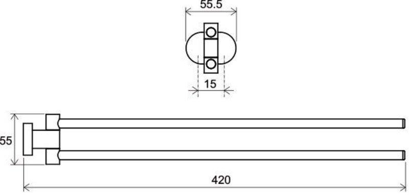Полотенцедержатель Ravak CR 340.00 поворотный, 42 см (X07P319), фото