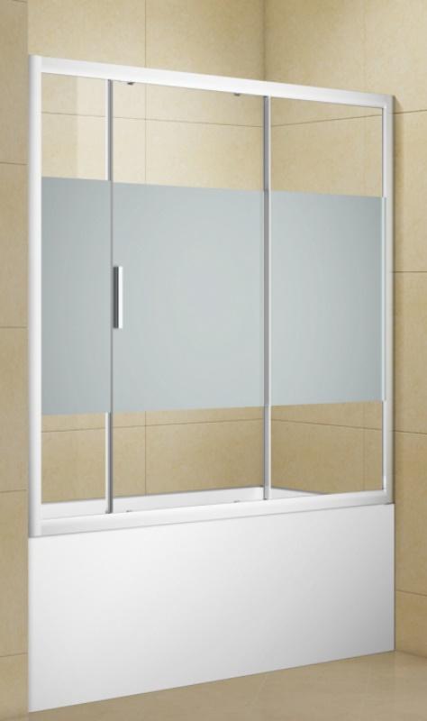 Фото - Шторка на ванну Aquanet Practic AE10-B170H150U-CP 1700 мм, хром, полоска (243613)