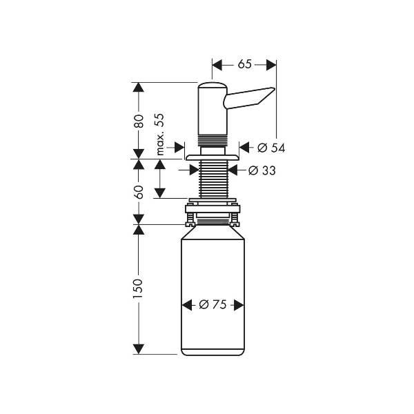 Диспенсер Hansgrohe 40418800 для жидкого мыла, фото