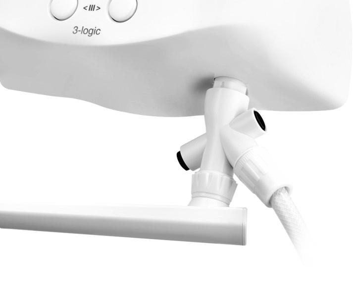 Фото - Водонагреватель проточный электрический Zanussi 3-logic 6,5 TS (душ+кран)