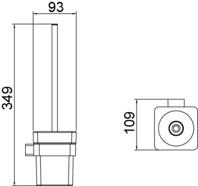 Щетка для туалета Timo Selene Black 14061/03, фото
