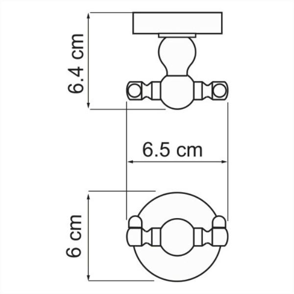 Крючок двойной WasserKRAFT Aland K-8523D, фото