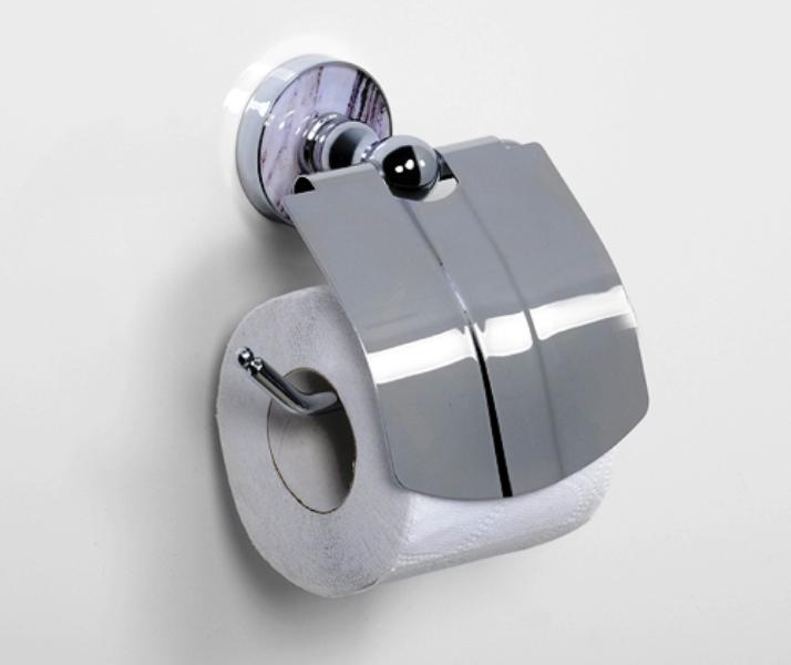 Держатель WasserKRAFT Aland K-8525 туалетной бумаги с крышкой, фото