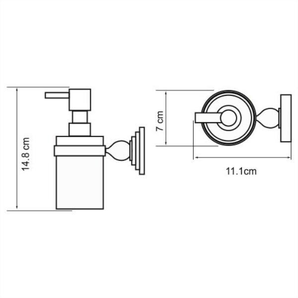 Дозатор WasserKRAFT Aland K-8599 для жидкого мыла, фото