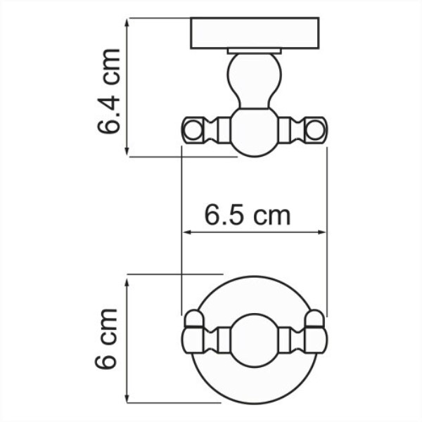 Крючок WasserKRAFT Nau K-7723D двойной, фото