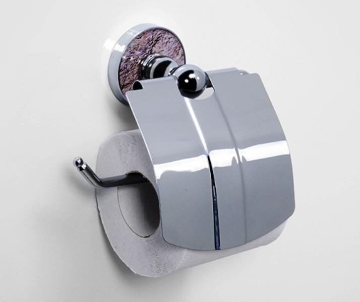 Держатель WasserKRAFT Nau K-7725 туалетной бумаги с крышкой, фото