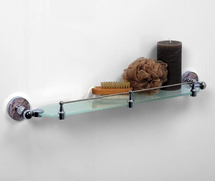 Полка WasserKRAFT Nau K-7744 стеклянная с бортиком, фото