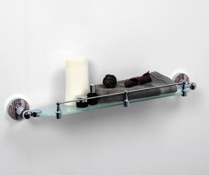 Полка WasserKRAFT Regen K-6944 стеклянная с бортиком, фото