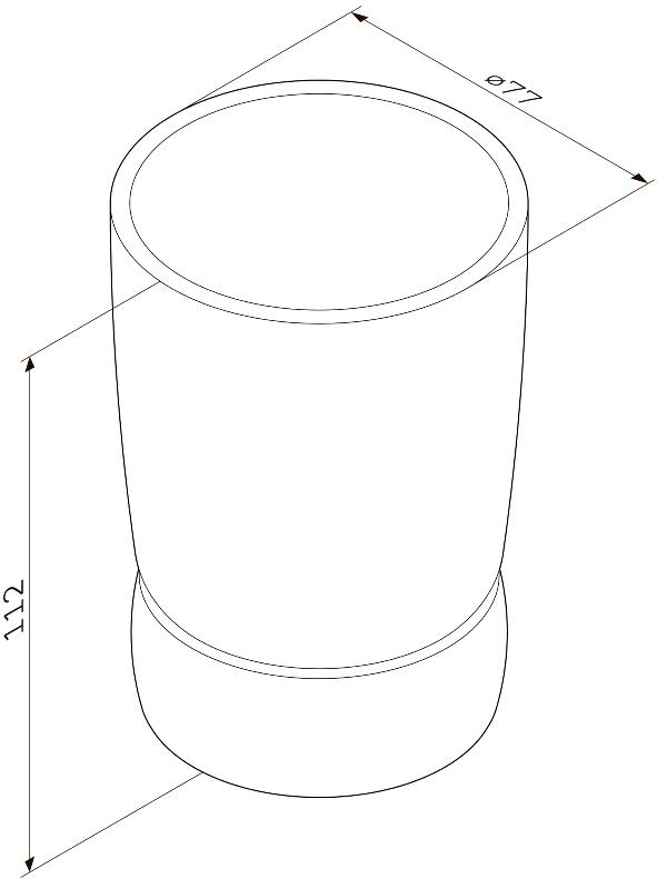 Стакан AM.PM Sensation A3031300 стеклянный, отдельностоящий, хром, фото
