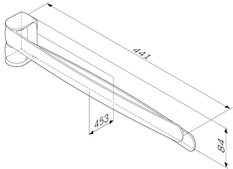 Вешалка-вертушка AM.PM Sensation A3032600 двойная для полотенец, хром, фото