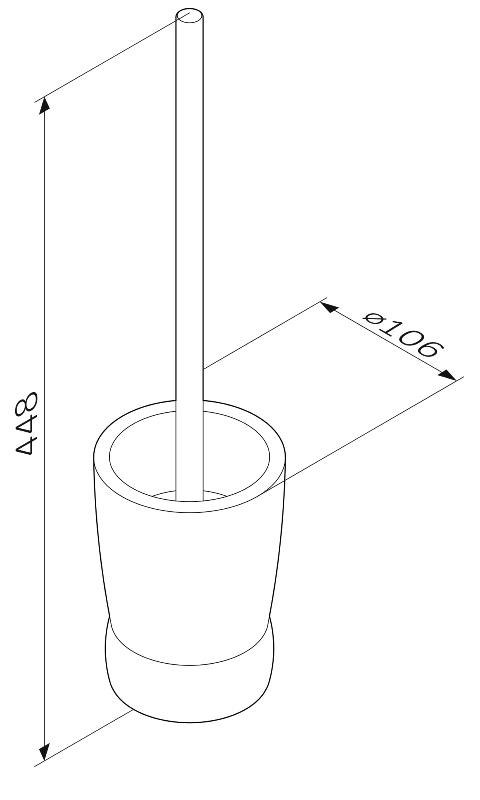 Стойка AM.PM Sensation A3033200 с туалетной щеткой, отдельно стоящая, хром, фото