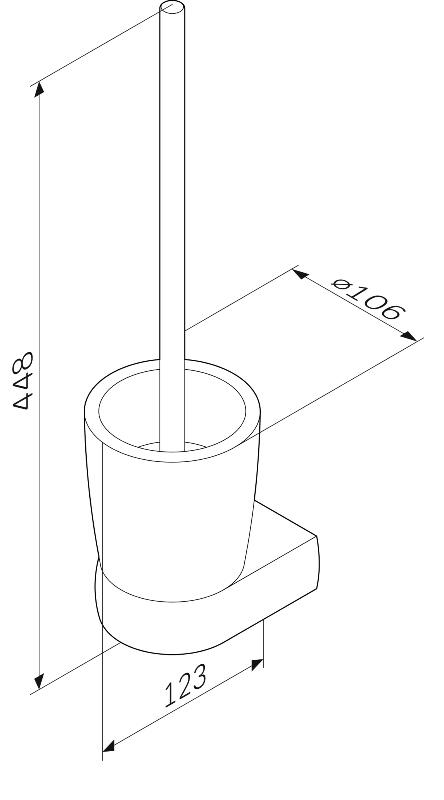 Стойка AM.PM Sensation A3033300 с туалетной щеткой, подвесная, хром, фото