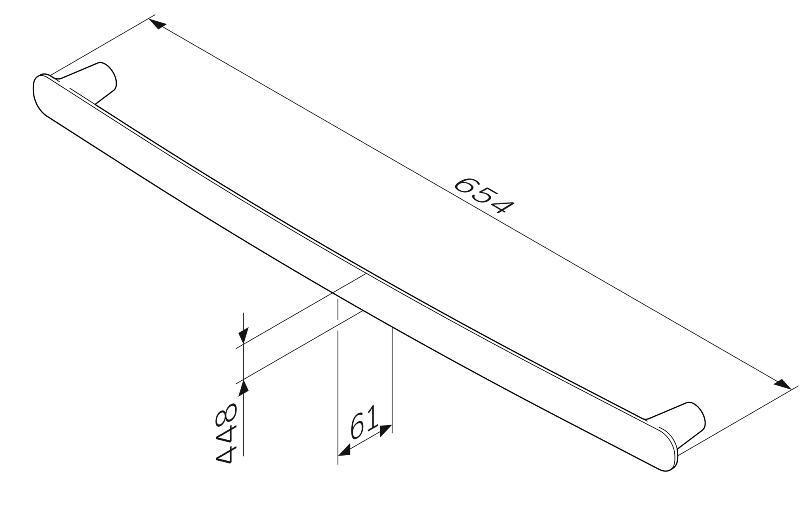 Вешалка AM.PM Sensation A30346400 для полотенец, 60 см, хром, фото