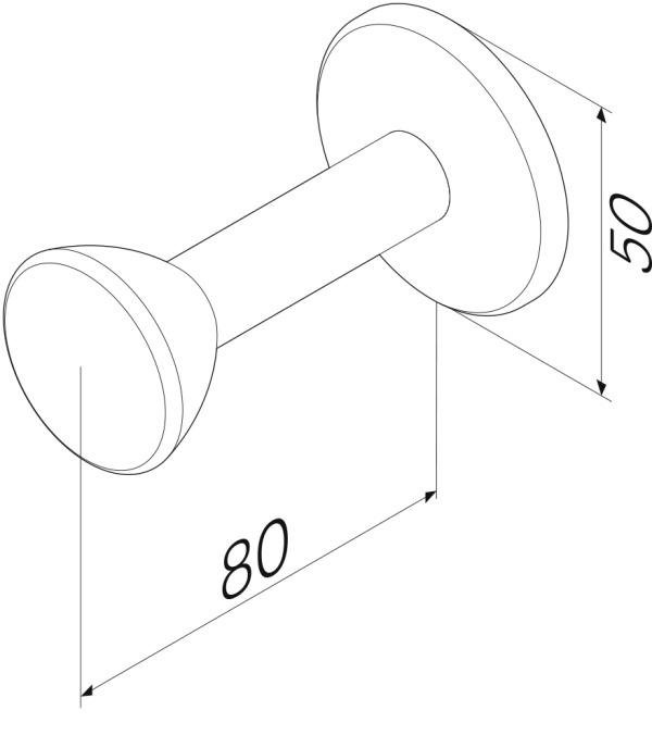 Крючок AM.PM Sensation A3035800 для халата, хром, фото