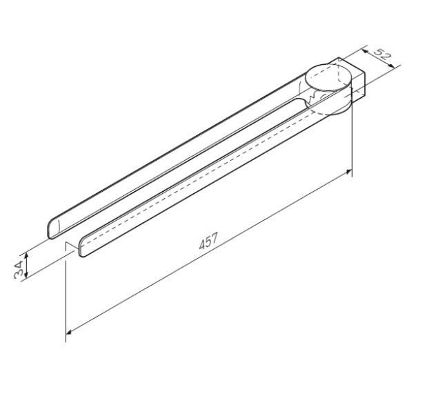 Вешалка-вертушка AM.PM Inspire 2.0 A50A32600 двойная для полотенец, 40 см, хром, фото