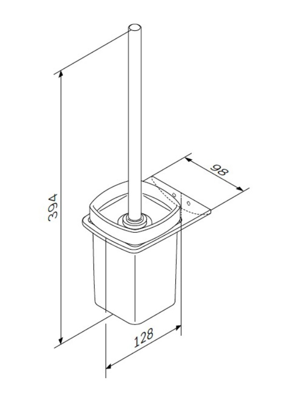 Стойка AM.PM Inspire 2.0 A50A33400 с туалетной щеткой, хром, фото