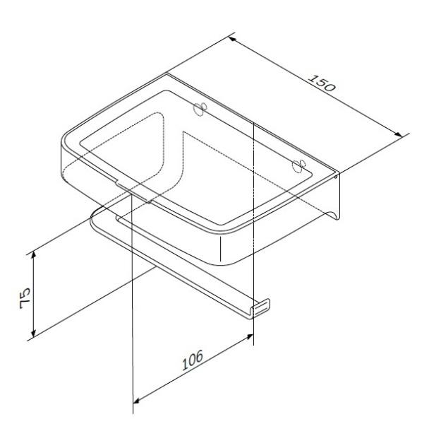 Держатель AM.PM Inspire 2.0 A50A341500 для туалетной бумаги с коробкой, хром, фото