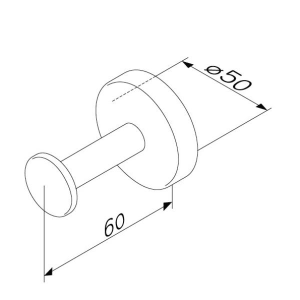 Крючок AM.PM Inspire 2.0 A50A35800 для халата, хром, фото
