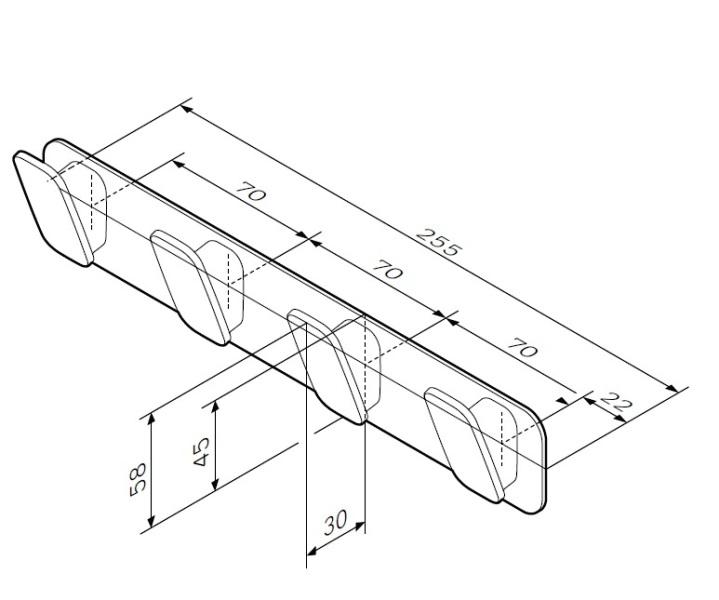 Набор крючков AM.PM Inspire 2.0 A50A35900 для полотенец, хром, фото
