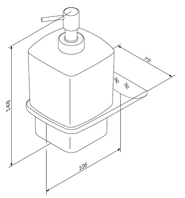 Диспенсер AM.PM Inspire 2.0 A50A36900 стеклянный для жидкого мыла с настенным держателем, хром, фото