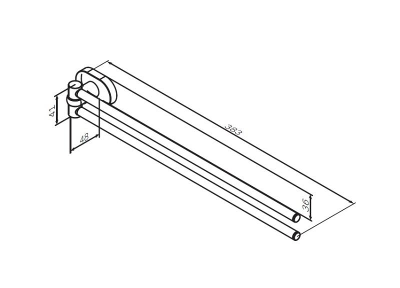 Вешалка-вертушка AM.PM Sense L A7432600 двойная для полотенец, хром, фото