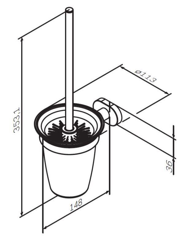 Стойка AM.PM Sense L A7433300 с туалетной щеткой, хром, фото