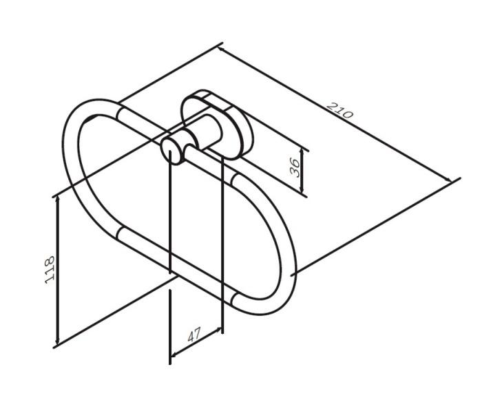 Держатель AM.PM Sense L A7434400 кольцо для полотенец, хром, фото