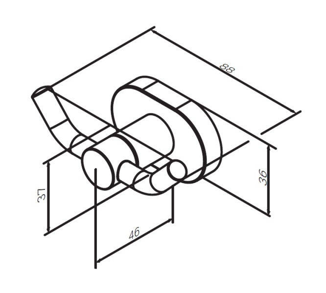 Крючок AM.PM Sense L A7435600 двойной для полотенец, хром, фото