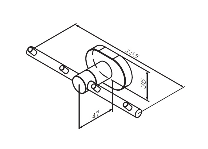 Набор крючков AM.PM Sense L A7435900 для полотенец, хром, фото
