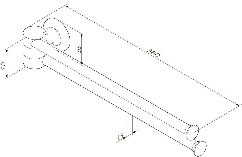 Вешалка-вертушка AM.PM Like A8032600 двойная для полотенец, фото