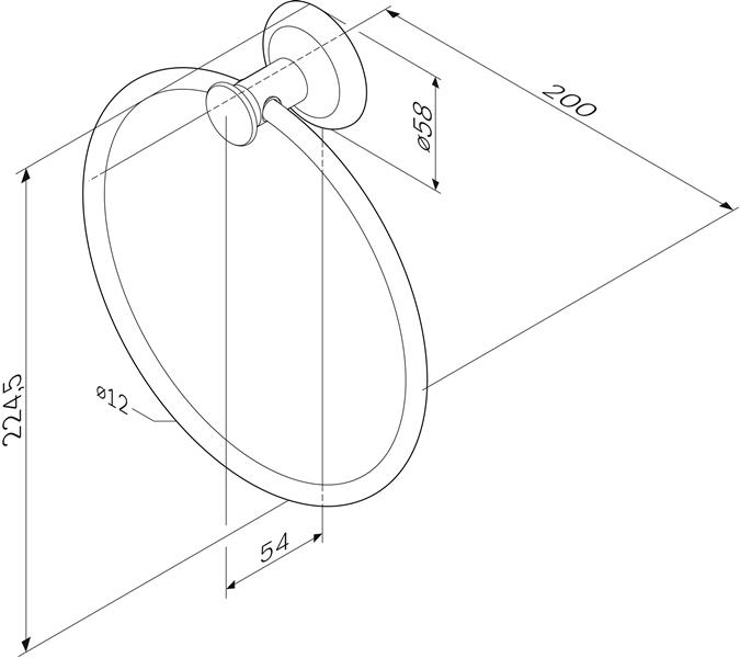 Деражтель AM.PM Like A8034400 кольцо для полотенец, хром, фото