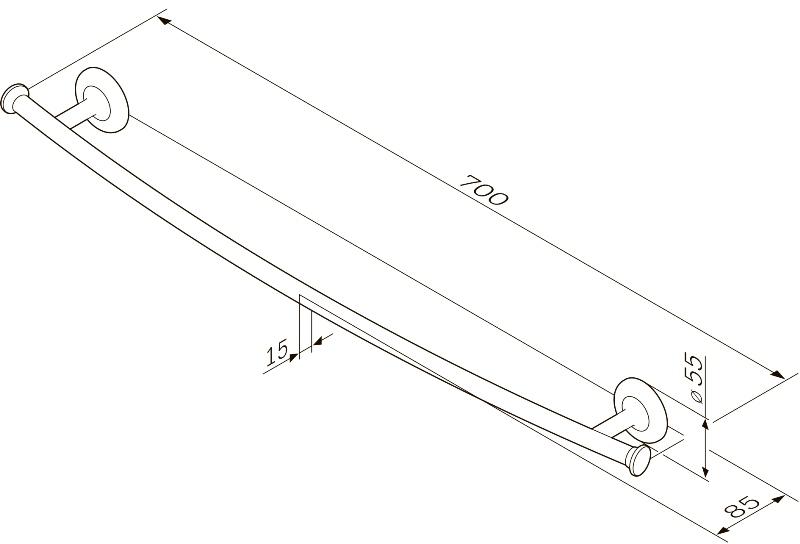 Вешалка AM.PM Like A80346400 для полотенец, 60 см, фото