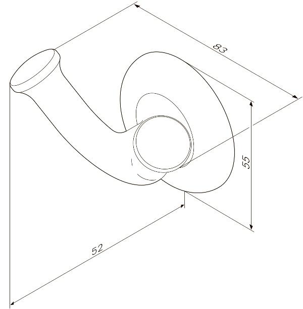 Крючок AM.PM Like A8035600 двойной для полотенец, фото