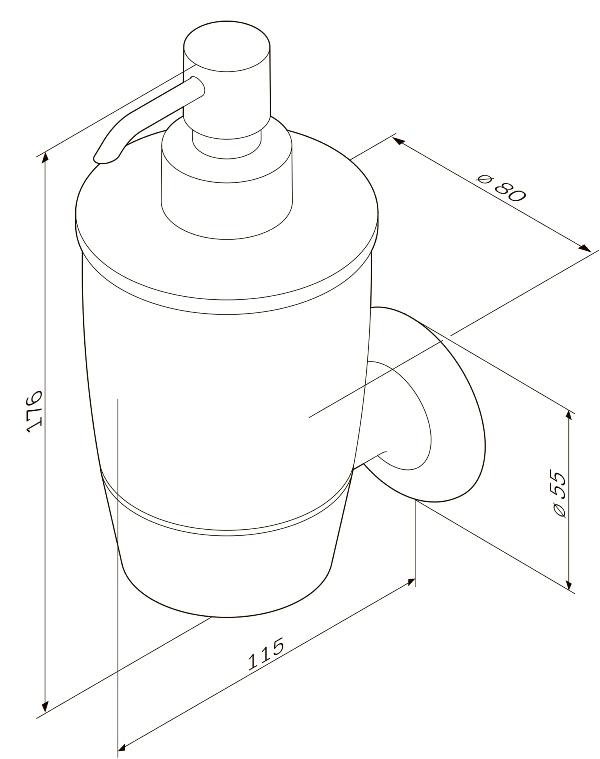 Диспенсер AM.PM Like A8036900 стеклянный для жидкого мыла с настенным держателем, фото