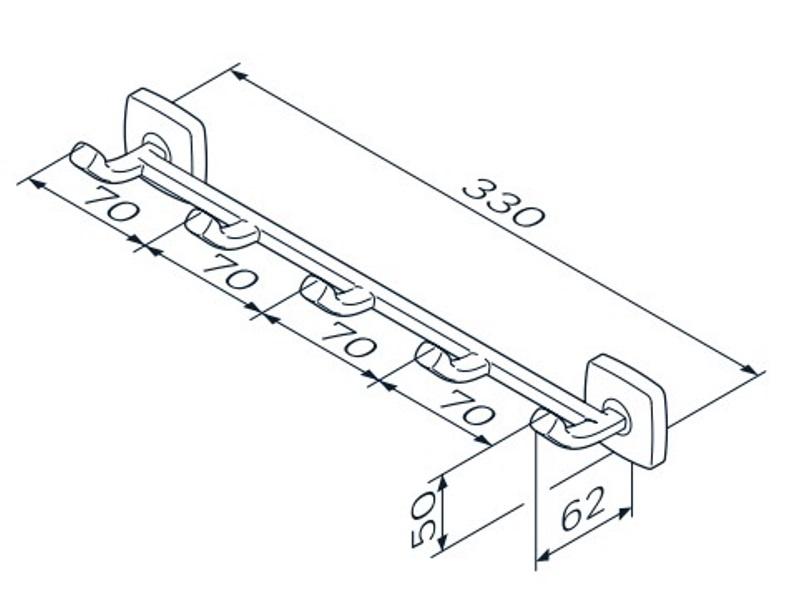 Набор крючков AM.PM Gem A9035900 для полотенец, фото