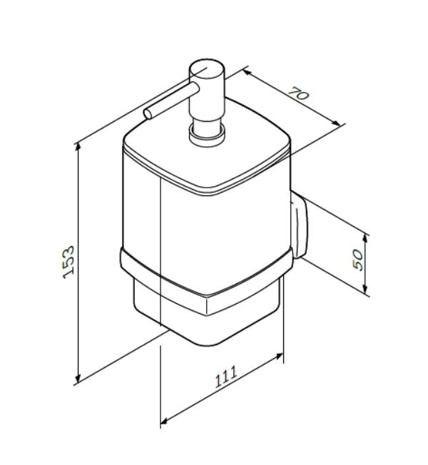 Диспенсер AM.PM Gem A9036900 стеклянный для жидкого мыла с настенным держателем, фото