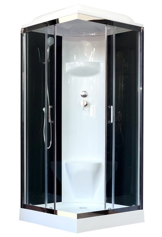 Фото - Душевая кабина Royal Bath RB 80HP6-BT-CH 800x800x2170 (черное/прозрачное)