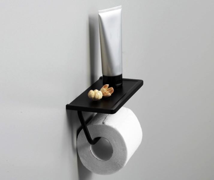 Держатель WasserKRAFT K-1525 туалетной бумаги с полочкой для телефона, фото