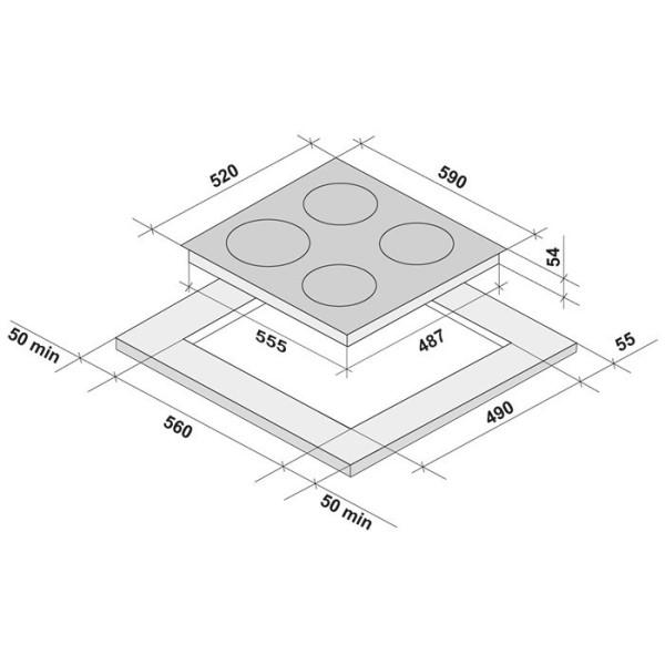 Фото - Варочная поверхность Krona MERIDIANA 60 WH индукционная (независимая)