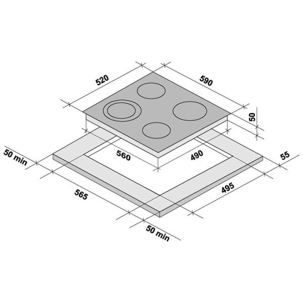 Фото - Варочная поверхность Krona ORSA 60 WH электрическая (независимая)