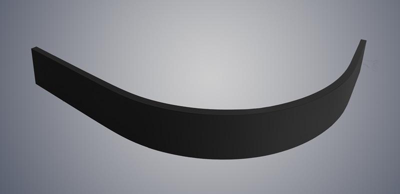 Фото - Экран WELTWASSER SKR12080-BL L/R Размер 1180х780х100 мм. Полукруглый AL для поддона 1200х800, цвет черный.