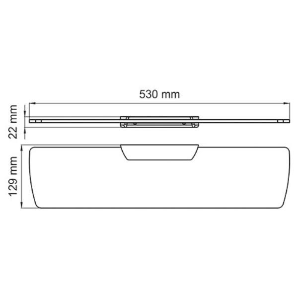 Полка WasserKRAFT Glan K-5124 стеклянная, фото